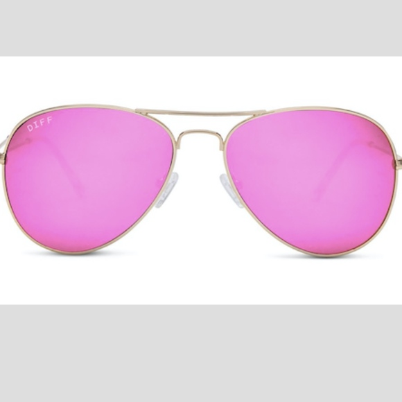 a893cbdecd Diff Eyewear Accessories - Diff Sunglasses - Cruz Gold Fram Pink Mirror Lens
