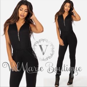 LAST RESTOCK! Sexy Black Zip Up Jumpsuit