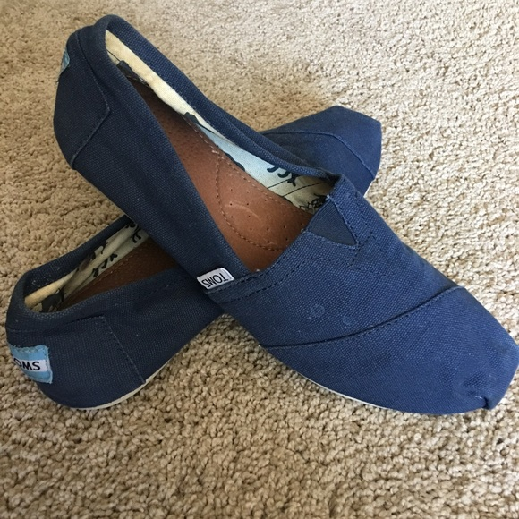 Toms Shoes | Navy Blue Toms Womens Size
