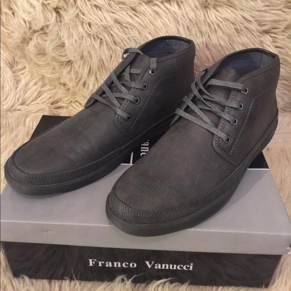bdf6f89c369 Grey FRANCO VANUCCI Mens Lace-Up Chukka Boot sz 11