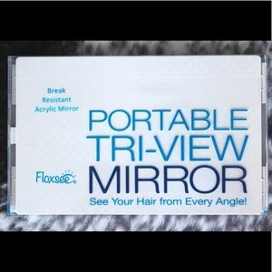 NEW IN BOX Floxsee Portable Tri-View Mirror