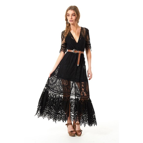 Spell & The Gypsy Collective Dresses   Spell Rhiannon Gown Black Xs ...