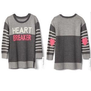 Gray tunic sweater