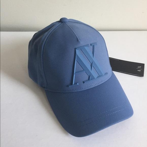 0dde21f8819 A X Armani Exchange Baseball Cap Rubber Logo NWT