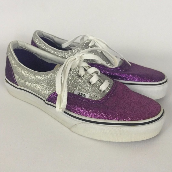 4286158d46ba9c Vans Purple   Silver Glitter Shoes Lace Up Lo-Top.  M 599da607ea3f362e7200b9d6