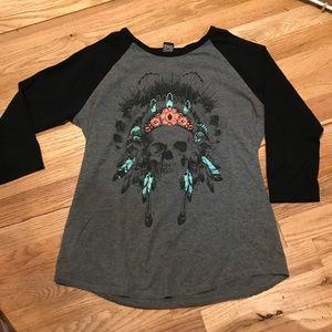 Baseball T Shirt w/ Native