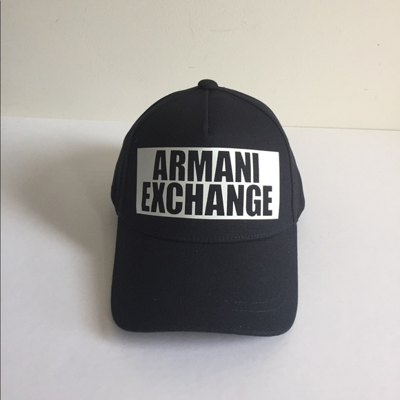 219bdb0cf6db5 Armani Exchange Men Baseball Cap Black NEW