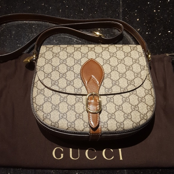 d55bfb50386 Gucci Handbags - NWOT Gucci Linea A saddlebag w dustbag