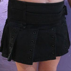 Torrid Tripp Black Cheerleader Style Skirt