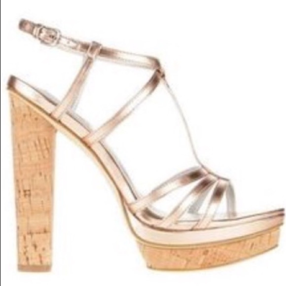 908e3231f0f Ann Taylor Shoes - Kate Hudson Ann Taylor rose gold open toe sandals