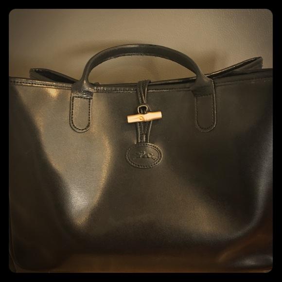 89a2747be6d Longchamp Handbags - Vintage Longchamp Roseau tote