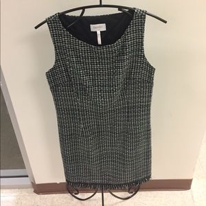 Black and Gray Laundry Tweed Shift Dress. Size 4.