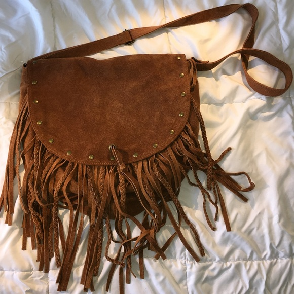 0cd50f628c Urban outfitters Ecote stud Fringe Hobo book bag