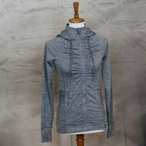 90 Degree by Reflex gray athletic zip up hoodie XS