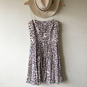 🌸 Greylin Silk Leopard Bustier Style Dress 🌸