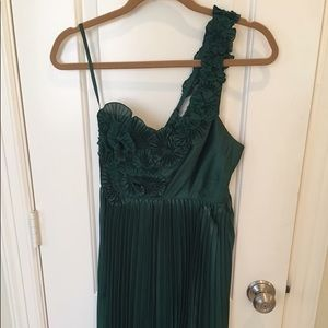 BCBG Silk One-Strap Dress - perfect for holidays!