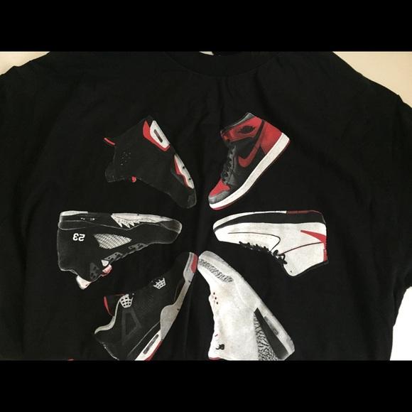 3c2e09b77cc351 lhc Other - Retro Kicks Old School Air Jordan Sneakers Tee