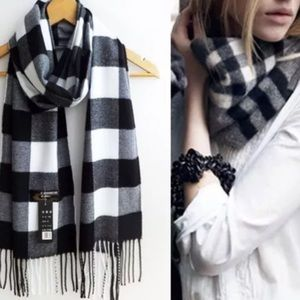 Accessories - Cotton Blend Checkered Neck Scarf