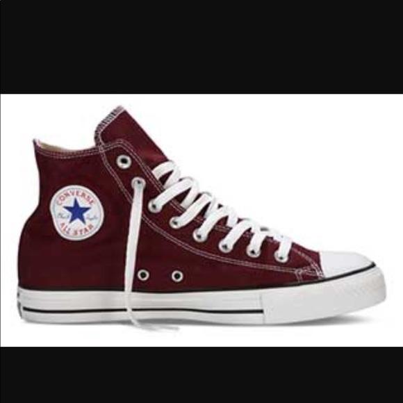 Converse Shoes - Burgundy High Top Converse W 8 M 6 b307890a7