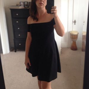 Free People simple black dress size M