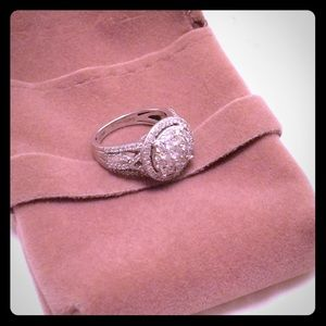 Jewelry - REAL 14 kt white gold diamond ring size 5