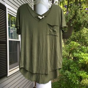 Drapey V-neck and V-back knit top
