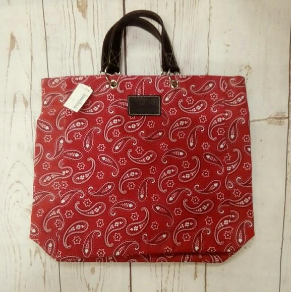 Neiman Marcus Handbags - NWT Neiman Marcus Red Bandana Tote