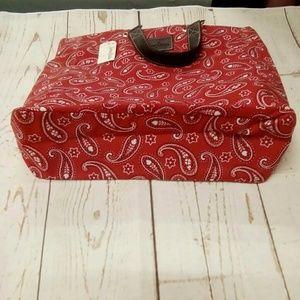 Neiman Marcus Bags - NWT Neiman Marcus Red Bandana Tote