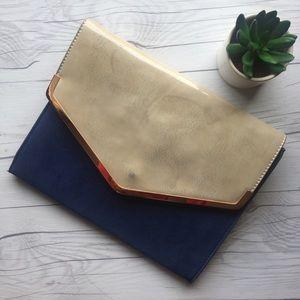 Handbags - Blue Envelope Clutch