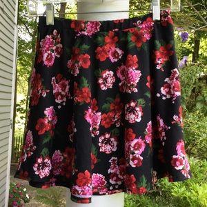 Adorable Floral skater skirt