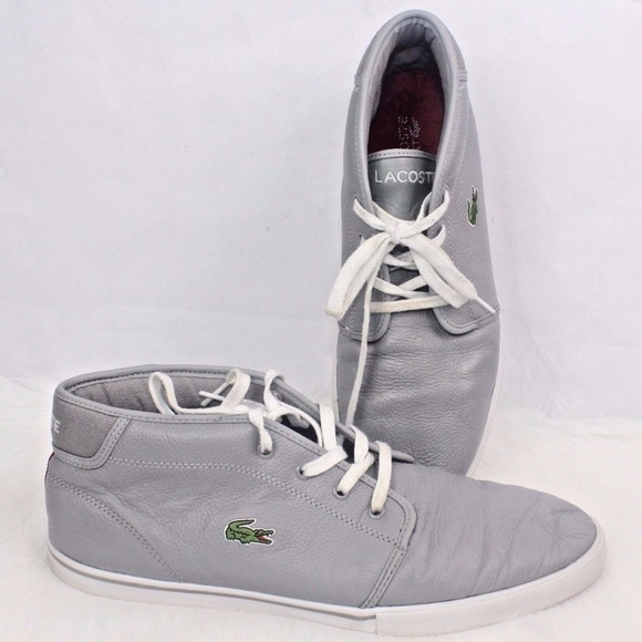 42612ec841748 Lacoste Other - LACOSTE SPORT Mens Ampthill Leather Gray Grey Lace