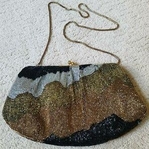 Vintage Beaded Coin Purse Shoulder Bag