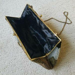 Vintage Bags - Vintage Beaded Coin Purse Shoulder Bag