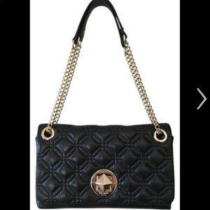 Kate Spade Cynthia Astor Black Quilted Bag Purse
