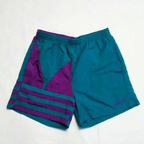 03c9883c27 adidas Other - Vintage Adidas Purple and Teal Swim Trunks (EUC)