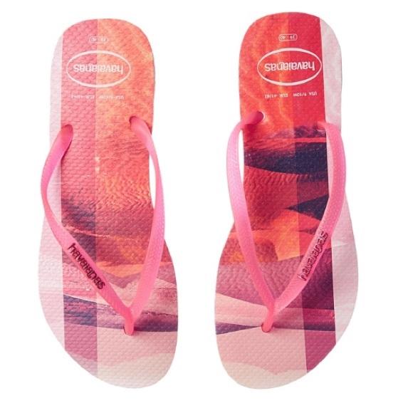 aa7d0b581670 HAVAIANAS~Slim Paisage Flip Flop Sandals~11 12