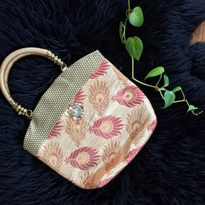 Handbags - BNWOT Peacock Feather Mini Satchel Purse 👛