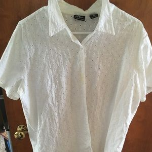Tops - White button up shirt top for women's/girls.