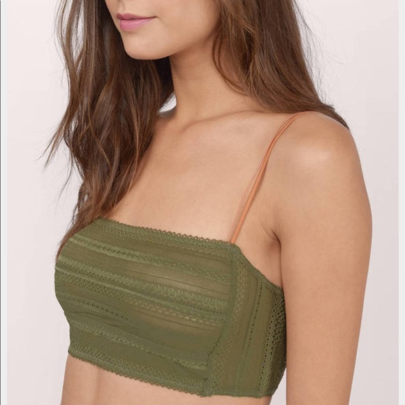 0e0576e03d4cc Free People Other - Free People Lace Bandeau Bralette