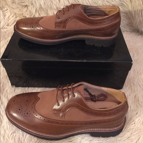 ae46909172a45 ADOLFO Cole 4 Lace Up Brogue Oxford Dress Shoes