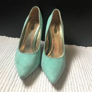 Shoes - Charlotte Russe Mint Green Heels