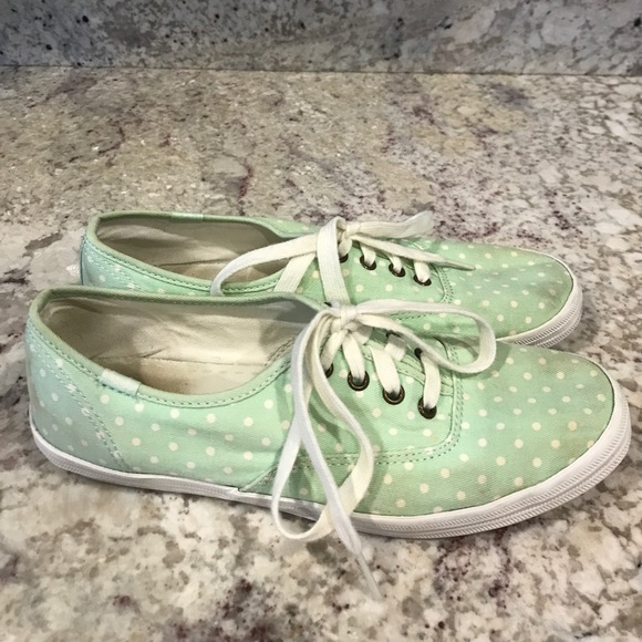 8cf37f2cd85 Keds Shoes - KEDS Mint Green Polka Dot Casual Sneakers