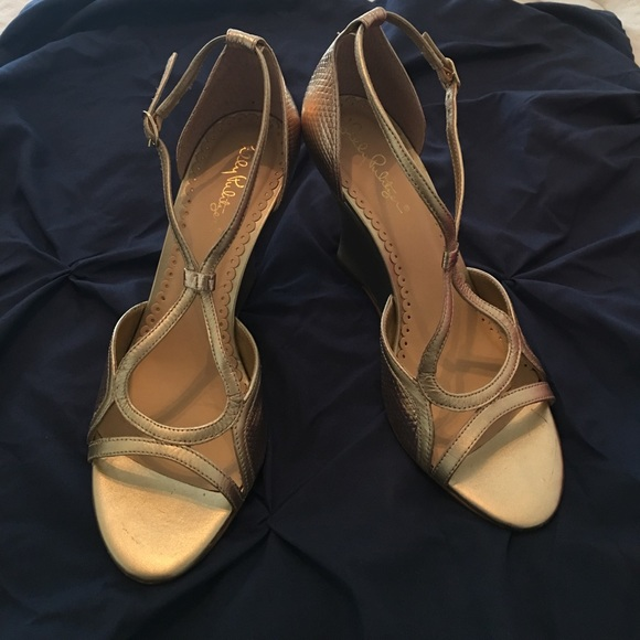 bf9d1b1fd8 Lilly Pulitzer Shoes - Lilly Pulitzer Janie Wedge size 9