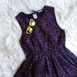 JACK WILLS blue+red floral sleeveless dress