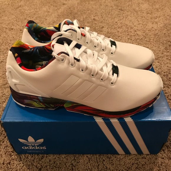 the best attitude d92ea a8bae Adidas ZX Flux Torsion Size 11 White and Marble