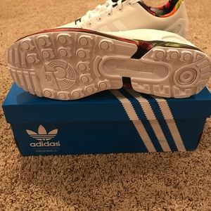 newest b2b00 43da8 adidas Shoes - Adidas ZX Flux Torsion Size 11 White and Marble