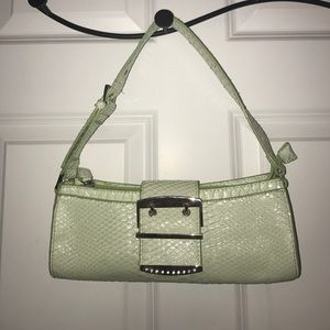 Faux alligator skin purse