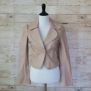 Arden B. 100% Bell-Sleeve Leather Jacket size S