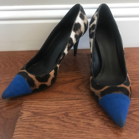 fbbda10e0b34f Giuseppe Zanotti Shoes | Leopard Print Suede Captoe Pump | Poshmark