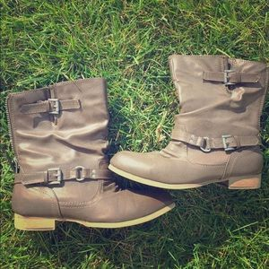 Madden Girl Brown Boots. Size 7.